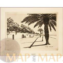 Eugene Bejot etching Cannes 1893