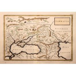 Sarmatia Ukraine Caucasus antique map Cellarius 1796