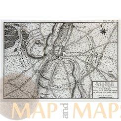 France Plan Du Siege De Valenciennes Old Battle map 1656