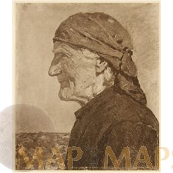 Portrait of the artist's mother Art Print Schmidt Reutte 1905.
