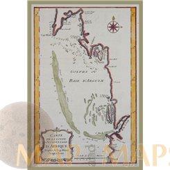 Africa Arguim Island Mauritania, by J.N. Bellin 1747.