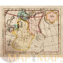 Baltic Russia in Europe antique atlas map by Bruyset.