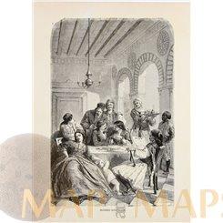 Greece, Modern Athenians Antique print Athens family 1878