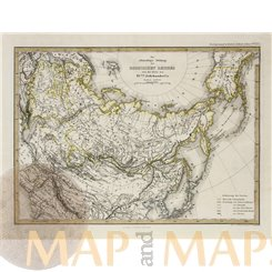 Russia antique map by Perthes 1870 RUSSISCHEN REICHES