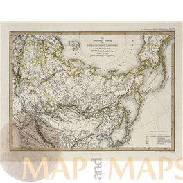 Russian Empire Antique Map by Perthes 1870