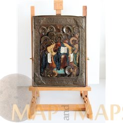 Russian Icon, Icon Diesis 18th century Old Russian Icon