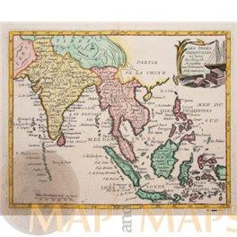 Antique map of Asia, Laos, Philippines, Indonesia by De La Porte 1786