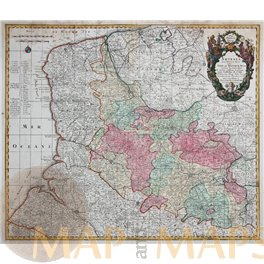 ARTESIA NORTH FRANCE-ANTIQUE MAP BY SEUTTER/LOTTER 1725