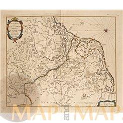 PATRIAE ANTIAUAE OLD MAP LOW COUNTRIES TIPOGRAFIA DEL SEMINARIO 1696