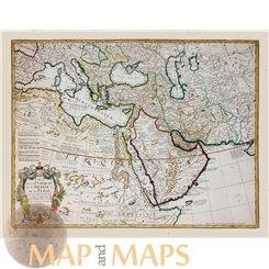 Carte de la Turquie de L'Arabie et de la Perse De L'Isle 1770