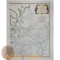 Europe Russia Early antique map by D'Anville 1787