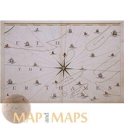 Uth The Er Thames river old map KentJn Andrews1769