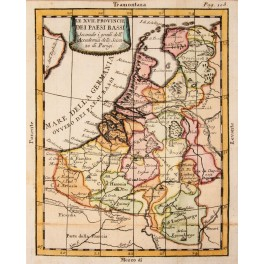 Netherlands Flanders Luxembourg old map Buffier 1744