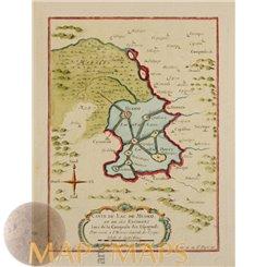Aztec Empire Carte de Lac de Mexico Map of Lake Mexico Bellin 1758
