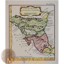 Carte des Provinces de Nicaragua et Costa Rica. Bellin 1764