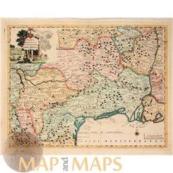 Carta Geografica del Regno Di Francia Old map Tirion. 1775