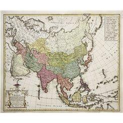 Charte von Asien Nach den bewährtesten Asia map Homann 1793.