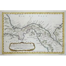 Bay Panama Darien America antique engraving by Bellin1754