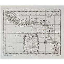 Africa maps. Coste Occidentale d'Afrique Gulf of Guinea Bellin 1739