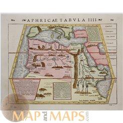Africa maps, Aphricae tabula IIII Sebastian Münster 1550