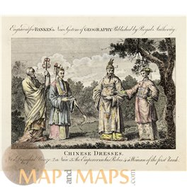 Chinese Dresses engraved for Bankers Geography 1760