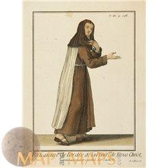 De Lorde Dela Penit Antique Religious Print Helyot 1714