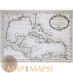 Carte Du Golphe Du Mexique et des Isles De L'Amerique 1754