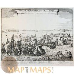 Swedes Danes Naval Sea battle Praelium Navale inter Suecos Merian 1651