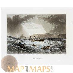 Cap Horn Hornos Island Chile Antique Print Meyers 1850