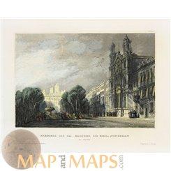 Spain old prints, Alameda monastery Celanova Meyer 1850