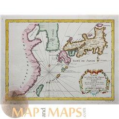Maps of Japan Carte des Isles du Japon Bellin 1752