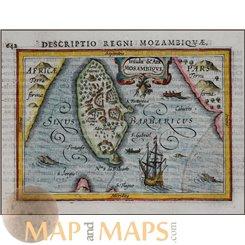 Descriptio Regni Mozambiquae Bertius 1616 Atlas Jodocus Hondius