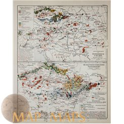 Antique Industrial map of Austria – Hungary. Meyer 1905