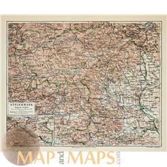 Styria Old map Austria by Joseph Meyer 1905