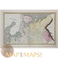 Russia North Part in Europe antique map by Arrowsmith 1809