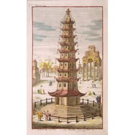 Nanjing China antique print Prevost 1750