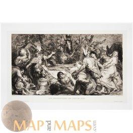 Rubens, Flemish Baroque painter, 1894 antique engraving