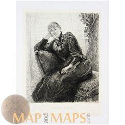 Fritz Von Uhde Weibliches Bildniss Old Print Collection Mapandmaps