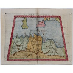 Tabula Aphricae II-Map of North Africa-Claudius Ptolemaeus 1574