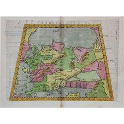 Tabula Asiae I-Map of Asia Minor-Claudius Ptolemaeus 1574