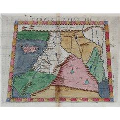 Tabula Asiae IIII.-Map of Middle East-Claudius Ptolemaeus 1574
