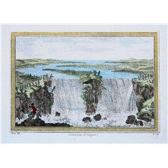 Cataracte de Niagara antique 1748 print Niagara Falls by Bellin