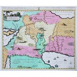 Carte De La Situation Du Paradis old map Holy Land. Heut 1720