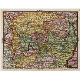 1760 German Saxonia antique atlas map/Setter/Lobeck