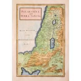 PALESTINE sev Terra Sancta antique map Cellarius 1771