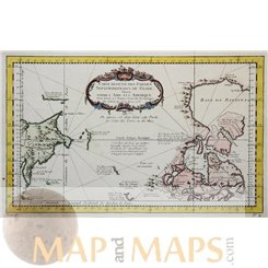 Asia America map. Northern Parts of The Globe Bellin 1758
