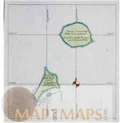 The Cosos and Traitor's Island Old map James Cook 1778