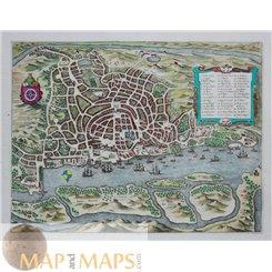 Goa India 17th century town plan Merian Matthäus 1638