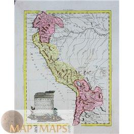 Il Peru Old map South America by Antonio Zatta 1785
