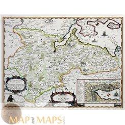Landtcarte Von dem Ambte Flensborg Denmark Germany map Meyer 1652